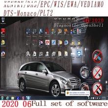 Neueste Umfassende 2020,09 MB STERN C4 C5 6 VCI volle Software XENTRYSCN/DASEPC/WIS/Starfinder/EWA/VEDIAMO/DTS Monaco HDD/SSD