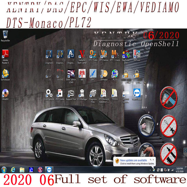 Newest Comprehensive 2020.09 MB STAR  C4 C5 6 VCI  full Software XENTRYSCN/DASEPC/WIS/Starfinder/EWA/VEDIAMO/DTS Monaco HDD/SSD