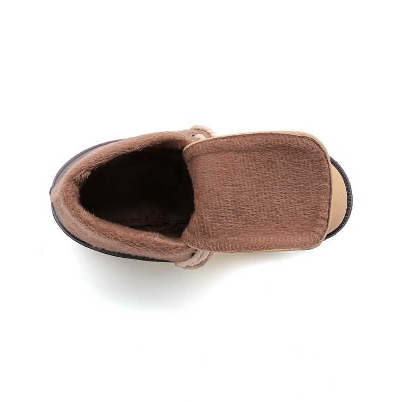 BLXQPYT süper büyük ve küçük boyutu 29-52 sonbahar kış sıcak ayak bileği kar botları kadın 2019 düşük topuk dantel up rahat ayakkabılar kadın 203