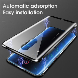 Image 4 - Double sided Magnetic 360 Full Protect Case for Xiaomi Pocophone F1 Tempered Glass Back +Front Cover Mi POCO F1 Transparent Case