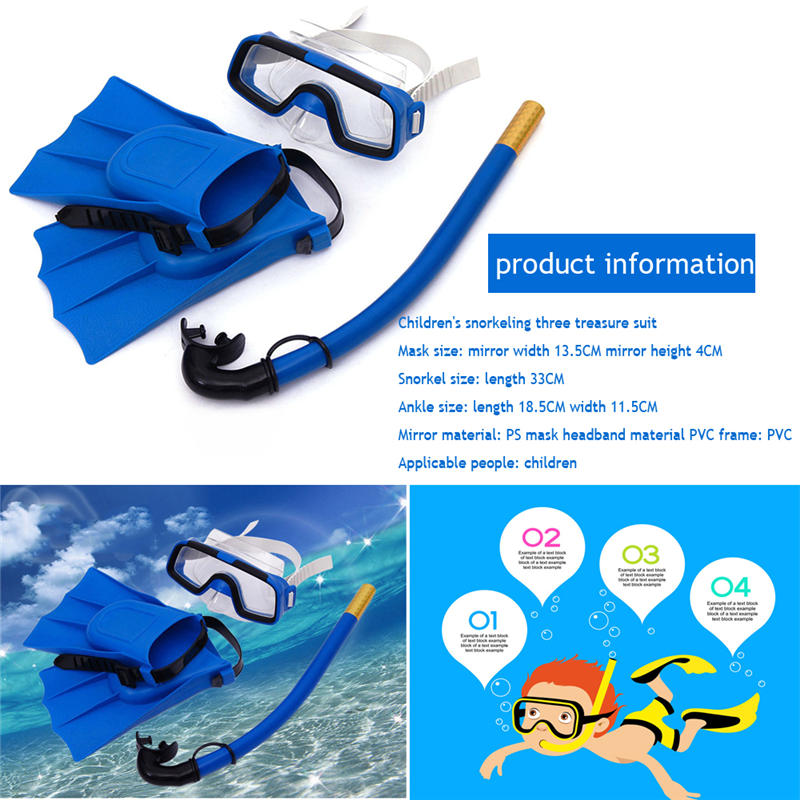 Snorkeling Mask Snorkel Tube Set Anti-fog Swimming Diving Goggles With Easy Breath Dry Snorkel Tube Snorkeling Goggles Kid Adult