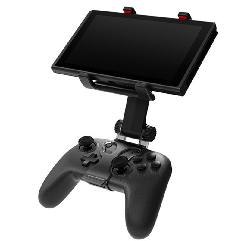 Controller Angle Adjustable Clamp Bracket Game Handle Clip Mount Games Screen Holder Stand for Nintendo Switch Pro Console