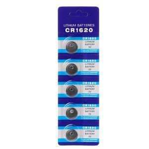 Image 5 - 5PCS 리튬 배터리 CR1620 전자 버튼 코인 셀 배터리 3VECR1620 DL1620 5009LC 시계 장난감 원격 CR 1620