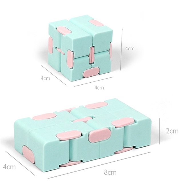 Magic Infinity Cube Decompression Toy for Children Adult Stress Relieve Toys Flip Cubic Puzzle Anti-anxiety Cube Toy Autism Gift 6