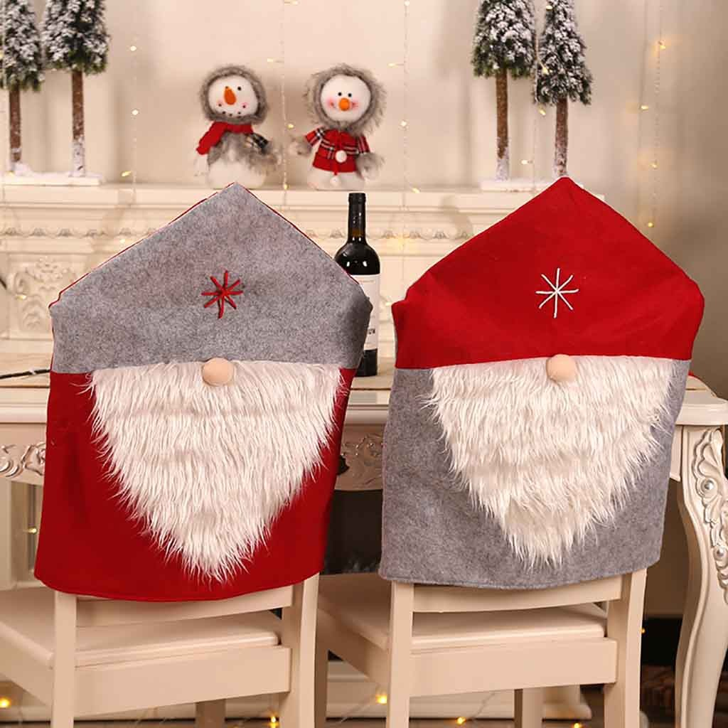6pcs Red Santa Claus Snowman Hat Dinner Chair Cover Christmas Decorations For Home Kitchen Dining Room Restaurant Hotel Dinner Table Chairs Christmas Chair Covers Eventerservice Com