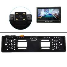Rear-View-Camera Car-Eu-License-Plate-Frame Car-Reverse Night-Vision Waterproof