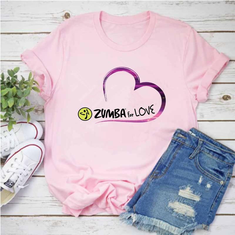 Mayos Lady Zumba danse hip-hop T-shirt Harajuku imprimé graphique T-shirt été mode à manches courtes fille T-shirt