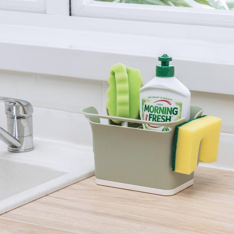 Kitchen Dishcloth Holder Sink Sponge Holder Stand Rack Towel Rag Hanger Shelf for Kitchen Bathroom Dish Cloth Drain Organizer