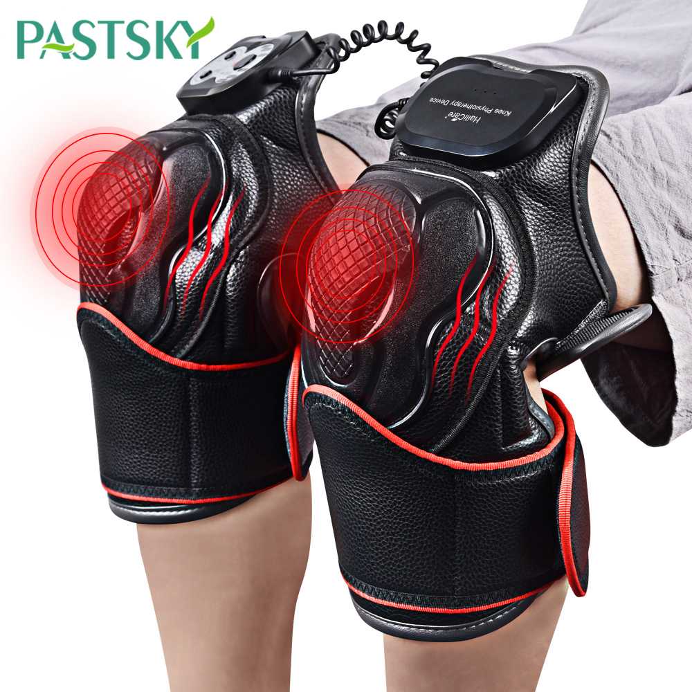 Smart Knee Joint Heating Brace Arthritis Pain Relief Wormwood Heat Therapy Support Foot Massager Muscle Stimulator Health Care