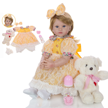 Hot sale 60cm boneca reborn toddler girl toy dolls soft silicone vinyl baby realista bebe reborn bonecas play house toys plamate