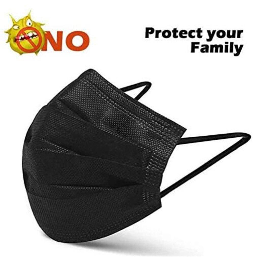 1/2/10/20 pces preto rosa amarelo máscara protetora à prova proteger rosto boca capa ao ar livre para segurar seguro máscara facial para ao ar livre 4