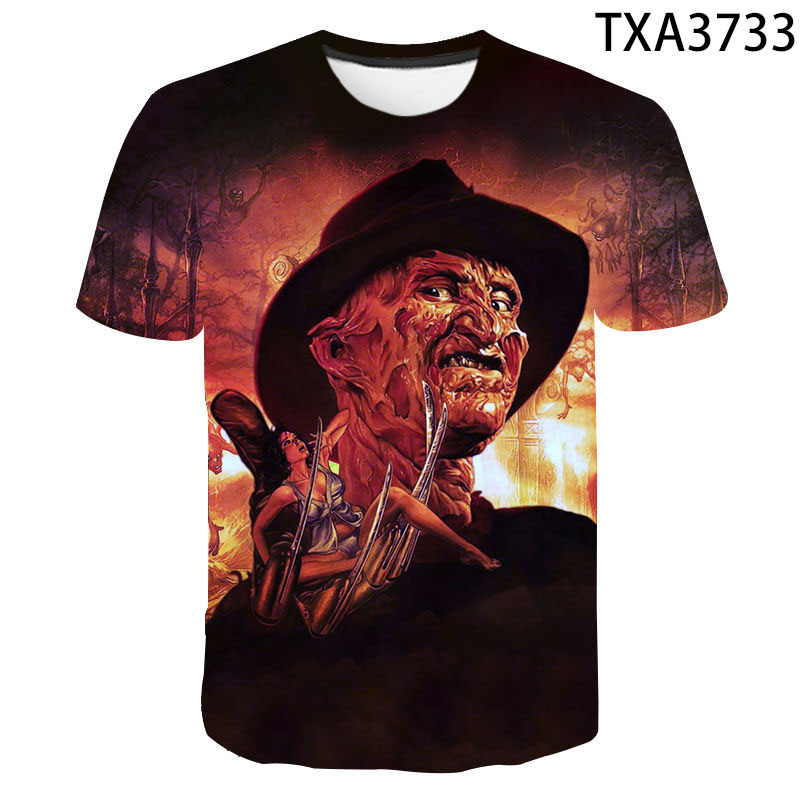 Summer Freddy Krueger Jason And Michael Myers Halloween 3D Men Women Children T Shirt Terror Short Sleeve Tops Cool Tees Clothes