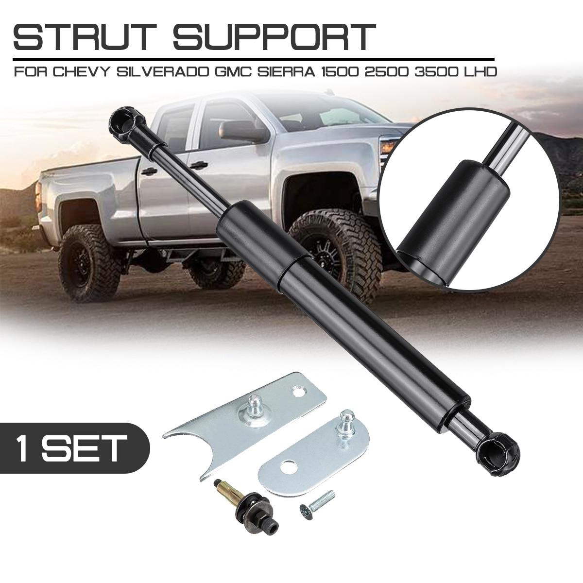For Chevy Silverado GMC Sierra 1500 2500 3500 LHD Car Interior Rear Trunk Support Hydraulic Rod Strut Spring Bars Shock Bracket