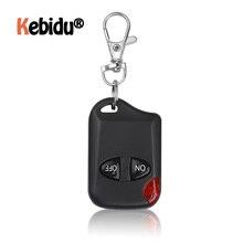 Mando a distancia inalámbrico Universal de 433MHz, 2 botones para puerta de garaje, llavero duplicador, 2 llaves, mando a distancia RF