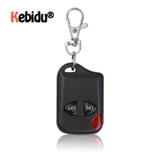 Télécommande sans fil universelle à 2 boutons, 433MHz, pour porte de Garage, duplicateur de porte clés à 2 clés, dernière version
