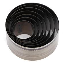 Кожевенное ремесло круглой формы кожаный резак в форме колокольчика нож форма штампа Шаблон Резки штамповки инструмент регулируемый торт слой нож плесень