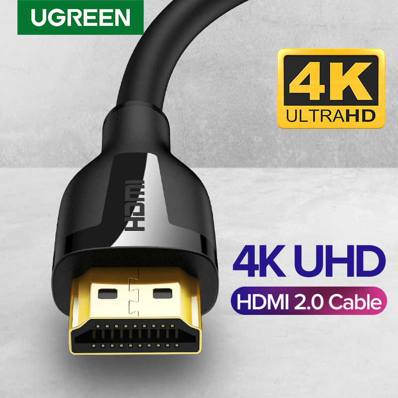 Ugreen kabel HDMI kabel 4K 2.0 do Apple TV PS4 przejściówka kabel HDMI do HDMI 60Hz kabel Audio wideo Cabo kabel HDMI 4K