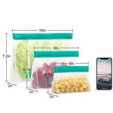3 sztuk 6 sztuk 9 sztuk PEVA zamrażarka torba przedmiot do przechowywania wielokrotnego użytku torba Upgrade szczelne Top świeżość torba kuchenny owoc Ziplock silikonowy worek tanie tanio snack sealed bag 6x4x2inch=15 5x10 5x5 1cm 8x5 5x2inch=20 5x14 5x5 1cm 10x7x2inch=25 5x18 5x5 1cm