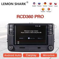 LEMON SHARK RCD360 PRO Оригинальное автомобильное радио Android Авто Carplay мультимедиа для VW Golf 5 6 Jetta MK5 MK6 Tiguan CC Polo Passat B6