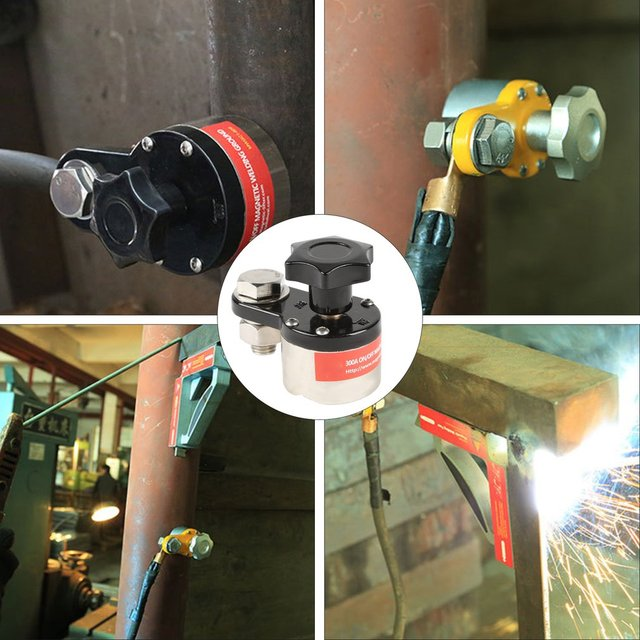 300A Magnetic Welding Ground Clamp Grounding Magnet Connector Industrial Welding Machine Magnetic Welding Ground