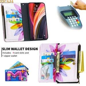 Image 3 - Zipper Case for Huawei P50 P40 Lite E P Smart 2021 2020 PSmart Z Nova 4E P40Pro Cover Leather Flip Card Slots Stand Wallet Strap