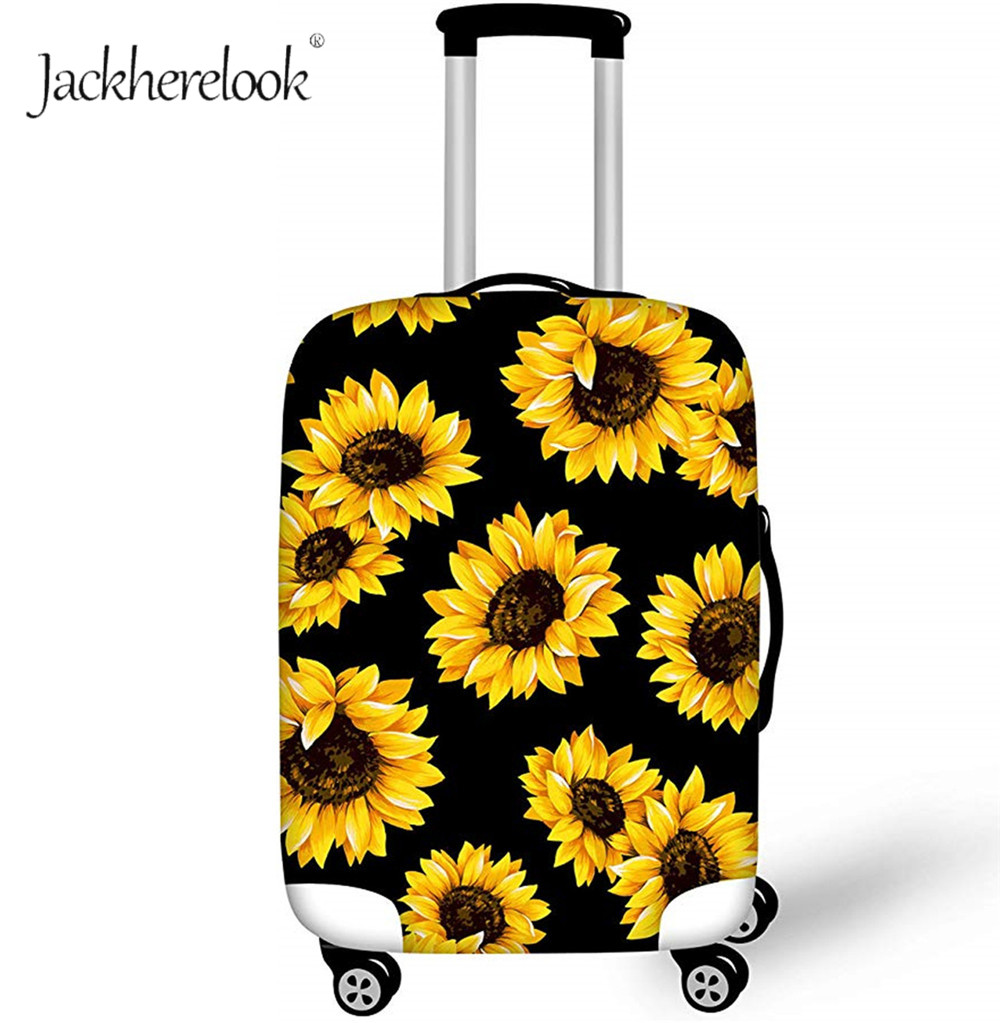 Jackherelook Sunflower Travel Suitcase Protective Cover Luggage Dustproof Bag Cover Baggage Waterproof Cover Accessories