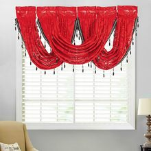 Mantovane Diamante di Lusso Sheer Pizzo Ricamato Mantovane Nappa Trim Finestra Che Copre La Decorazione Domestica(China)