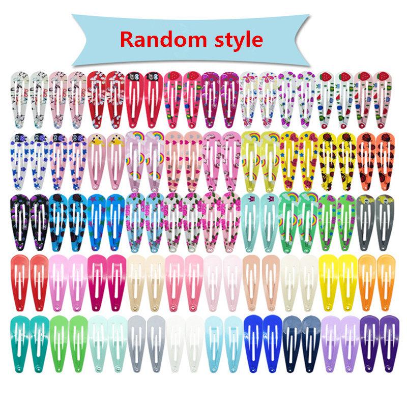 50Pcs/Lot Korean Style Girls Hair Accessories Cartoon Hairclip Candy Color Flower Hair Clip Barrette Cute Hair Clip for Kids