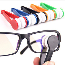 Mini Microfiber Two-side Sunglasses Brush Eyeglass Cleaner Brush Spectacles Rub Cleaner Glasses Clean Tool Brush 5 Colors