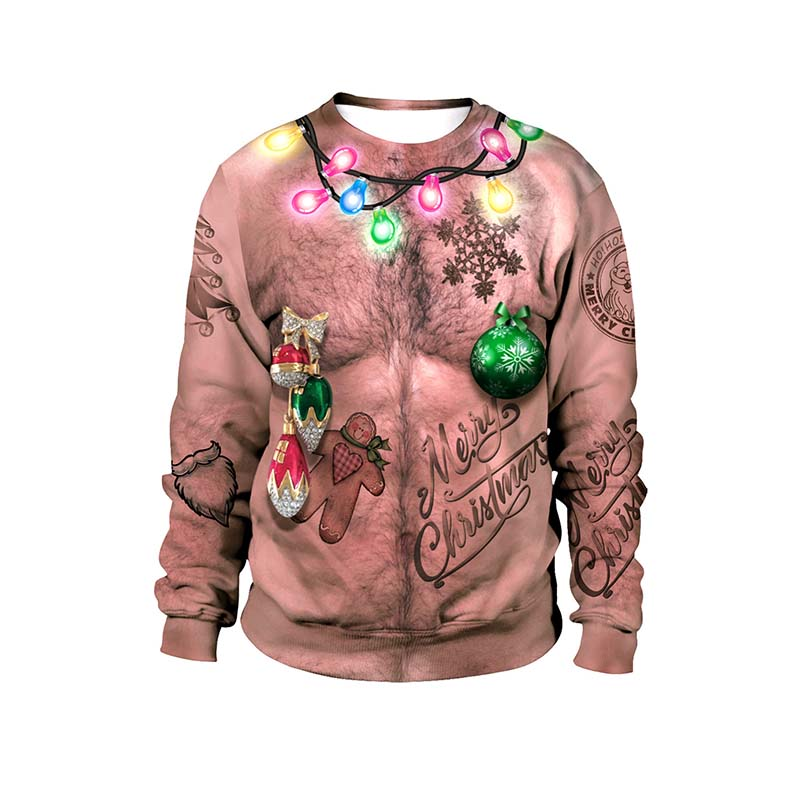 Women Men Ugly Christmas Sweater 2019 Vocation Holiday Party 3D Funny Print Xmas Clothing Pullover Jumpers Tops Plus Size 2XL
