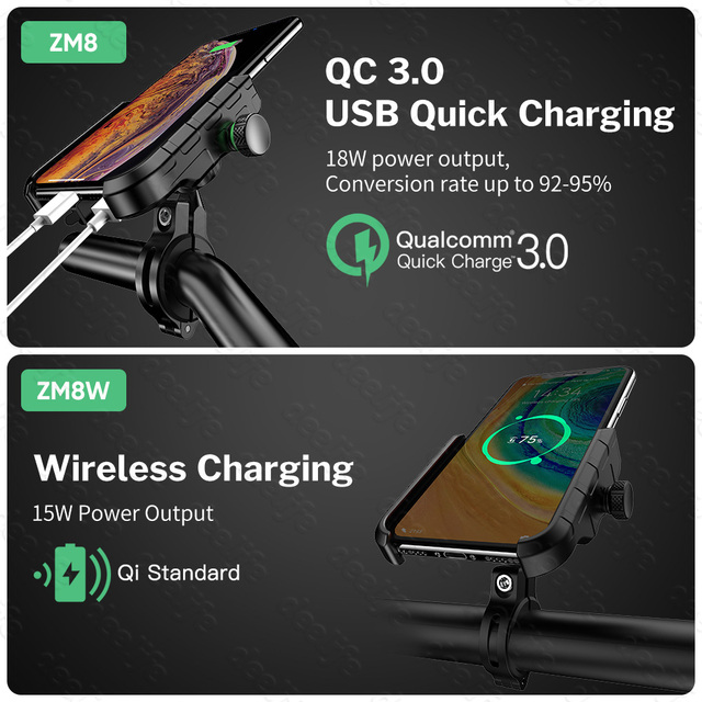 Deelife Motorcycle Phone Holder for Moto Motorbike Mirror Mobile Stand Support USB Charger Wireless Charging Cellphone Mount 3