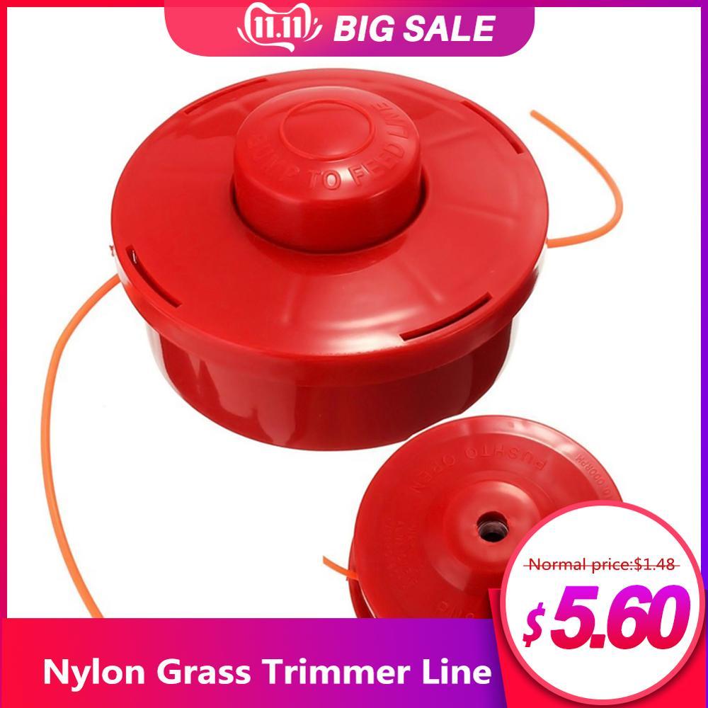Nylon Line Coil Grass Trimmer Head Garden Strimmer Lawn Mower Mounting Weeder Garden Accessory 12x7cm