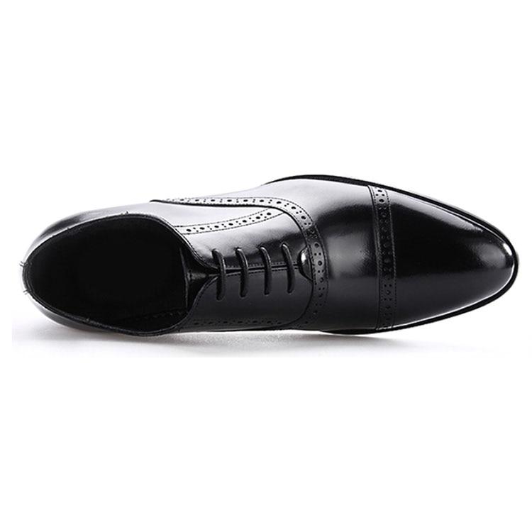 Wincheer 2019 Luxe Mannen Jurk Lederen Schoenen Plus Size Lace Up Business Casual Schoenen Mannen Formele Bruiloft platte Schoenen - 2
