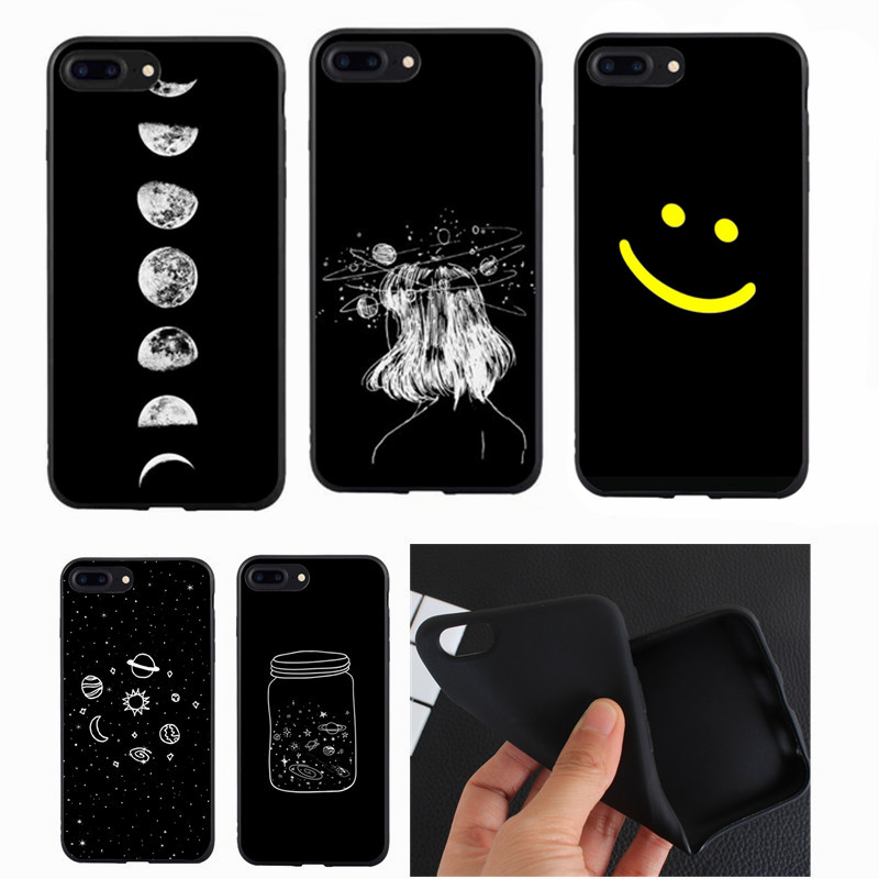 Simple Modern Art Style Line TPU Soft Silicon For Coque iphone 6 6s 5s SE For