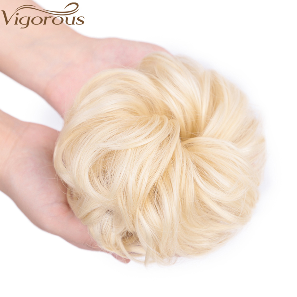 Vigorous Synthetic Curly Hair Chignons Elastic Scrunchie Extensions Hair Ribbon Ponytail Hair Bundles Updo Hairpieces Hair Buns