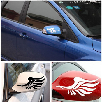 1 Pair Guardian Angel Wings Lovely Reflective Car Motorcycle Styling Stickers Fashion Car Rearview Mirror for Strip Subsection image
