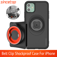 Vertical Universal Buckle Lock Cell Phone Bracket Sport Waist Belt Clip Holder for iPhone 11 Pro Xs Max 8 7 6s With Quick mount