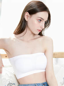 Padded Tube-Tops Bandeau Brassiere Chest-Wrap Strapless Women Lady Underwear Llingerie