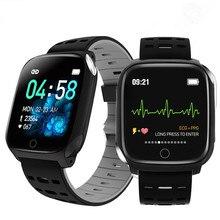F16 sağlık akıllı saat PPG ekg IP67 su geçirmez kalp hızı spor Android IOS için Smartwatch kadın erkek pedometre bilezik