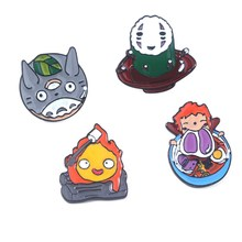 Spirited Away Geen Gezicht man Broche Ponyo on The Cliff Kids Cosplay Gift(China)
