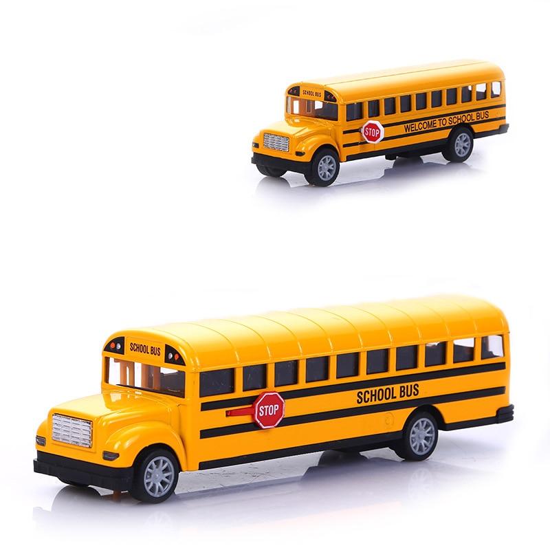 1:16 Children School Bus Toy Alloy Pull Back Diecast STOP Car Model High Quality Simulation Toy Car Boy Birthday Present TY0488