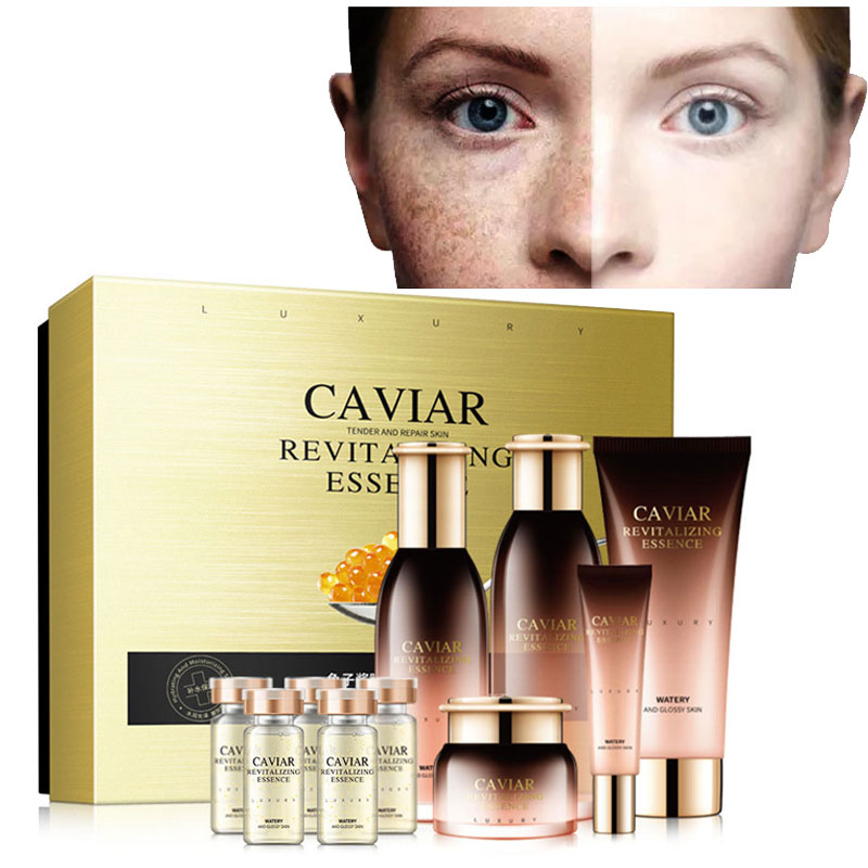 Beauty Suit Skin Care 10PC/Set Anti-aging Whitening Moisturizing Freckle Removal Fine Lines Hyaluron