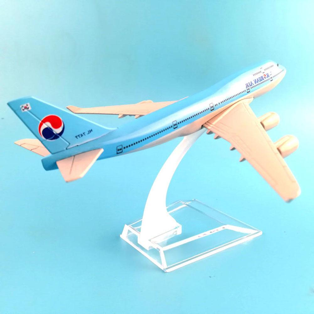 1/400 Simulation Plane Model Toy Korea Air A380 Diecast Plane Aircraft Airplane Model Kids Toy Table Decor Collectible 16cm image