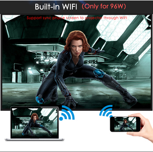 Image 4 - Poner Saund LED96 WIFI מקרן 3D 5500 Lums מלא HD אנדרואיד 6.0 אלחוטי מסך רב אינטראקטיבי 10m HDMI חצובה 3D Proyector