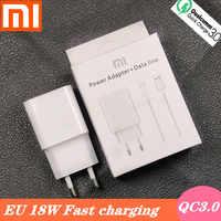 Xiao mi redmi note 7 chargeur charge rapide QC3.0 9V2A adaptateur secteur Type C câble pour mi x 2s mi 6 6X8 A2 A1 Note 8 max3 mi 8 lite