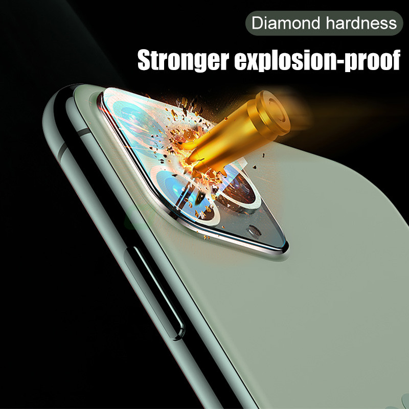 3PCS Camera Lens Tempered Glass For iPhone 11 12 Pro XS Max X XR Screen Protector On For iPhone 11 7 8 6 6S Plus SE Camera Glass 4