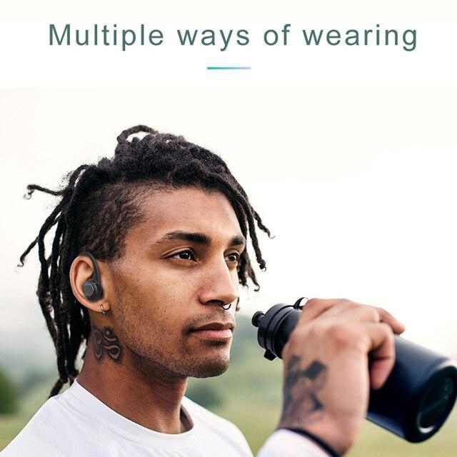 Auriculares inalámbricos Bluetooth 5,0 con botón de Control, auriculares con pantalla LED Antibacterial UV, auriculares con estuche de carga tipo C
