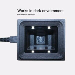 Image 2 - Yüksek kaliteli 2D/QR/1D sabit montaj tarayıcı Wiegand RS485 USB RS232 için kiosk erişim kontrolü turnike park yeri