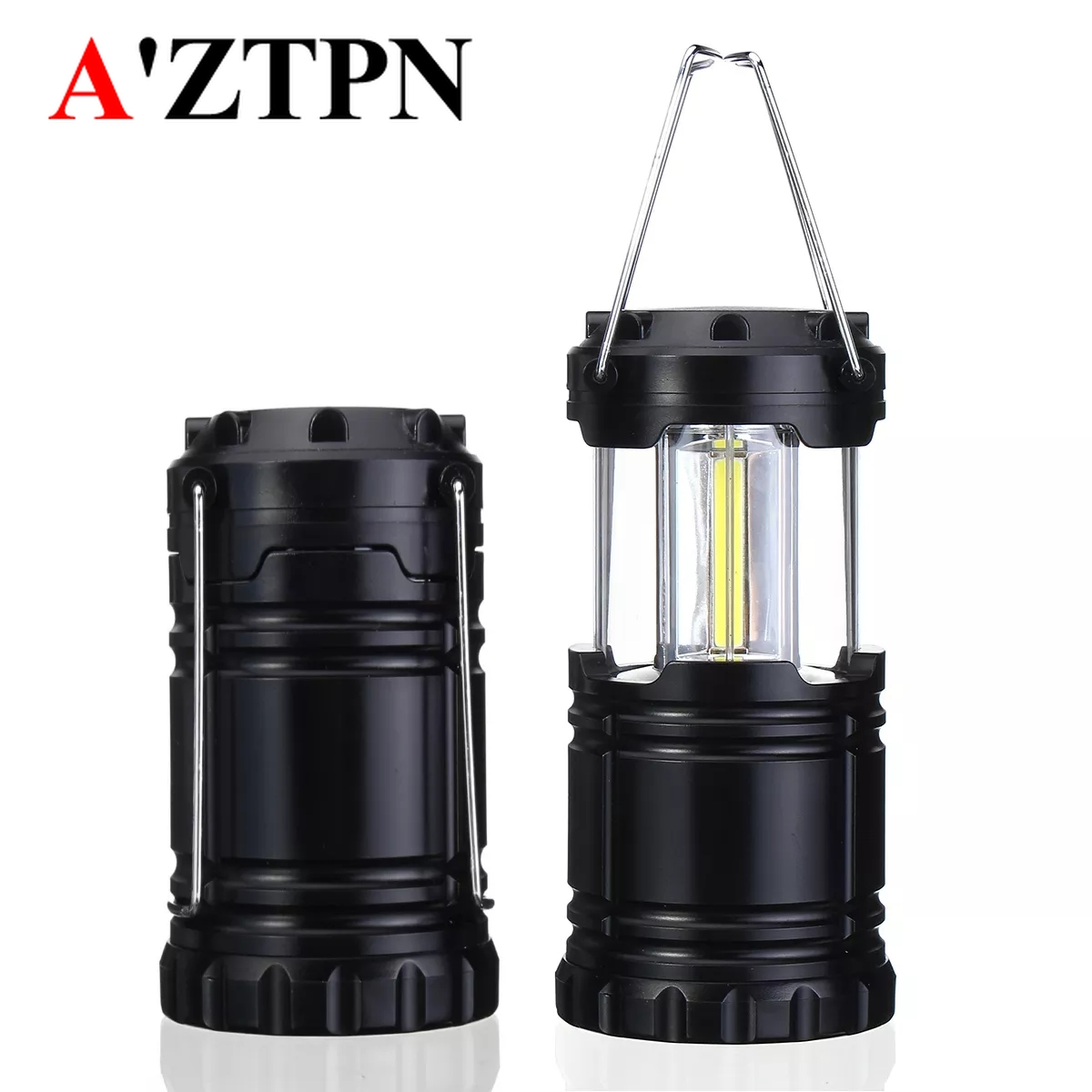 Portable LED Hiking Camping Lantern Tent Fishing Lamp Light USB Rechargeable Jz