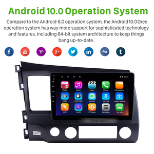 Image 5 - Seicane 10,1 zoll Android 10,0 Auto Stereo GPS Radio Multimedia Player für Für Honda Civic 8 2005 2006 2007 2008 2009 2010 2011
